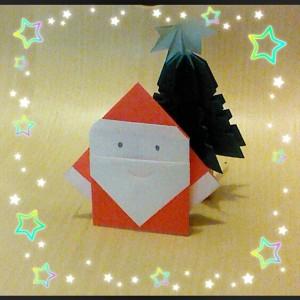 クリスマスに折り紙で簡単サンタさん 3分で折れる1枚折り