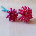 母の日のプレゼントに手作り折り紙で簡単にカーネーション♪花束にも